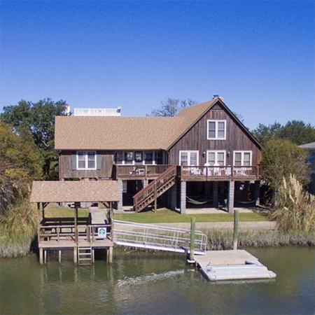 Great Rate on this Creekfront Home at Litchfield Beach